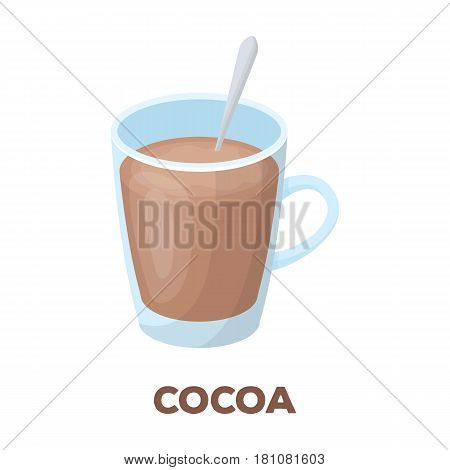 Cup of cocoa.Different types of coffee single icon in cartoon style vector symbol stock illustration .