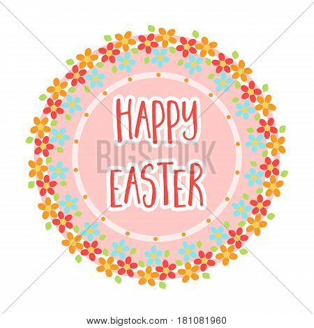 Sticker happy Easter. Easter single icon in cartoon style vector symbol stock web illustration.
