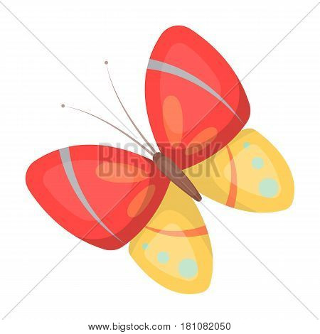 Spring butterfly. Easter single icon in cartoon style vector symbol stock web illustration.