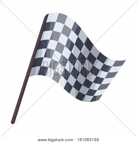 Flag in football referee.Fans single icon in cartoon  vector symbol stock illustration.