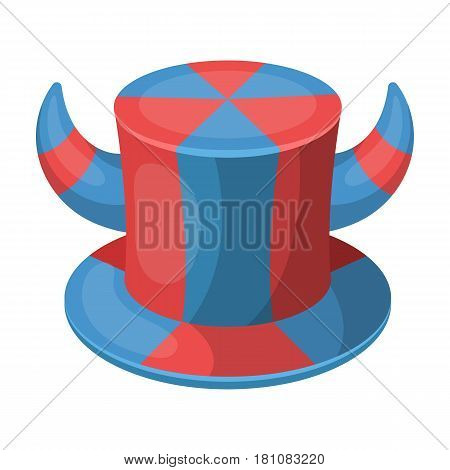 Hat of a fan with horns.Fans single icon in cartoon  vector symbol stock illustration.
