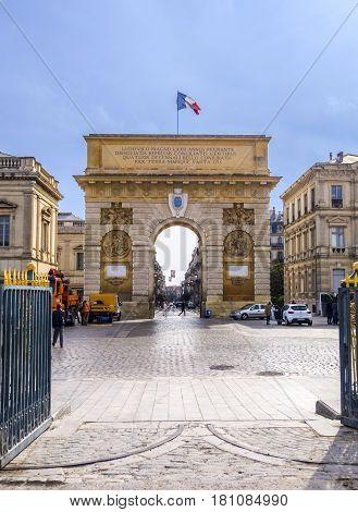 Arc De Triumphe In Montpellier