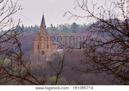 A little pilgrimage church in the woods near Schesslitz, Germany, called Guegel.
