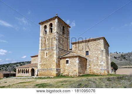 San Miguel Arcangel Church in the Andaluz province of Soria Spain