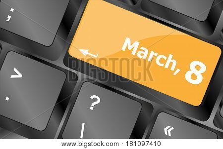 Computer keyboard key enter button - March 8