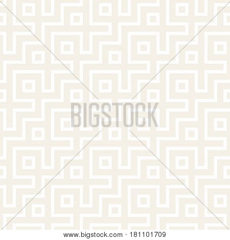 Maze Tangled Lines Contemporary Graphic. Abstract Geometric Background Design. Vector Seamless Subtle Pattern.