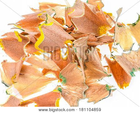 Different Colour Pencil Sharpener Shavings.