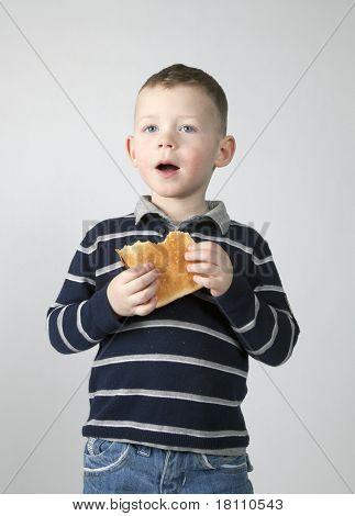 Boy Eats Bread