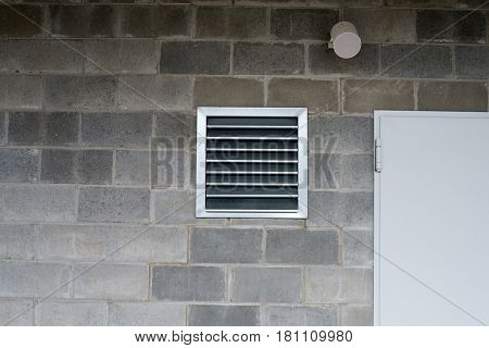 close up on industrial ventilation and air conditioning pipe