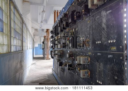 Electrical Switchboard Pumping Station. Control Units And Electr