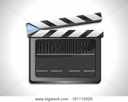 3D Illustration of a Black and White Blank Slate Ciak with Shadow