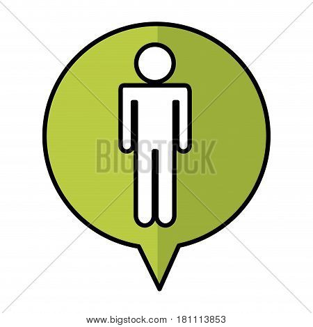 speech bubble with human figure silhouette icon vector illustration design