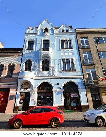 CLUJ NAPOCA ROMANIA - 03.04.2017: Union square historic building landmark architecture