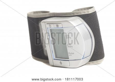 Digital Blood Pressure Monitor isolated on white background