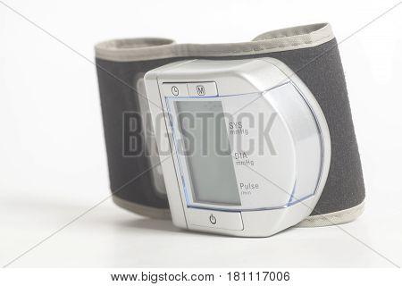 Digital Blood Pressure Monitor on white background