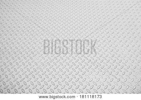 The emboss metal plate texture for anti-slip reason background in white scene
