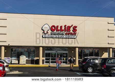 Lafayette - Circa April 2017: Ollie's Bargain Outlet. Ollie's Carries a Wide Range of Closeout Merchandise IV