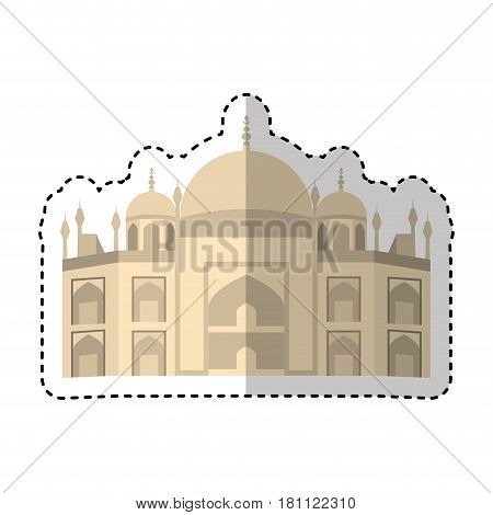 Vatican Cathedral isolated icon vector illustration design