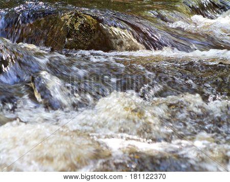 Rock In Rushing River
