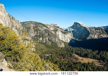 Half Dome in Yosemite National park Carlifornia USA