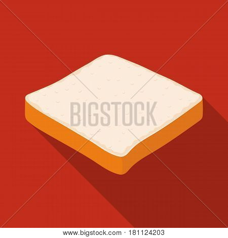 Bread is a piece of a sandwich.Burgers and ingredients single icon in flat style vector symbol stock web illustration.