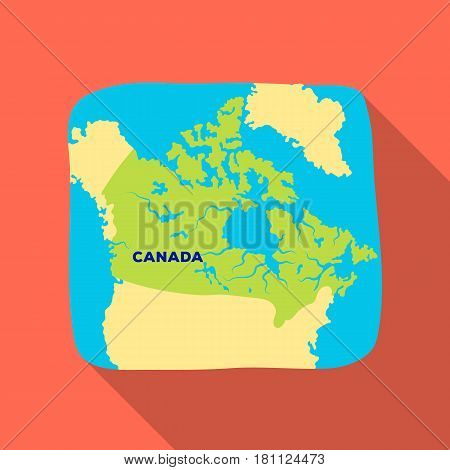 Map of Canada. Canada single icon in flat style vector symbol stock illustration .