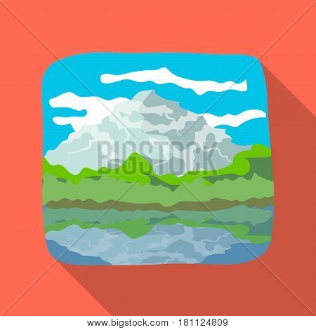 Canadian waterfall. Canada single icon in flat style vector symbol stock illustration .
