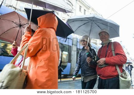 Tourists In The Ilica Street