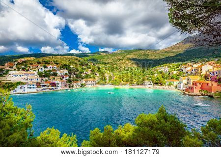 Assos village in Kefalonia, Greece