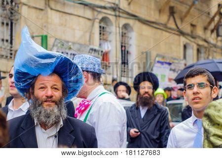 Purim 2017 In  Mea Shearim, Jerusalem