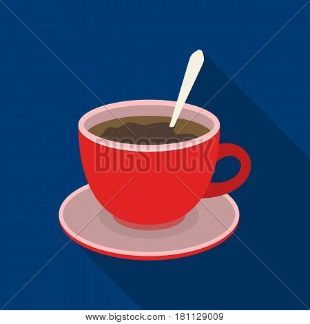 Coffee cup americano.Different types of coffee single icon in flat style vector symbol stock illustration .