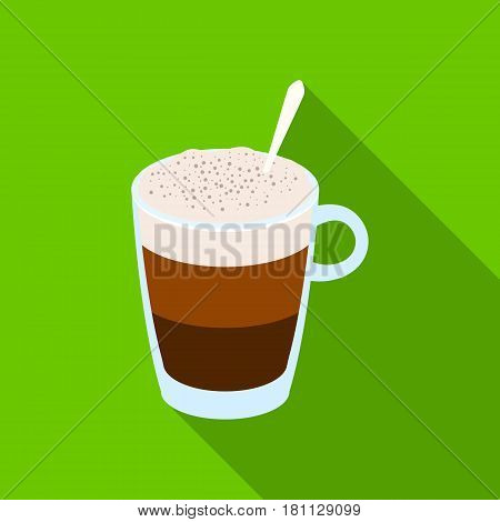 A cup of latte.Different types of coffee single icon in flat style vector symbol stock illustration .