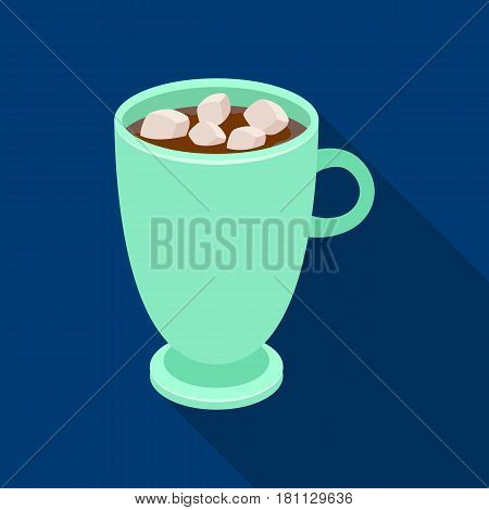 A cup of hot chocolate.Different types of coffee single icon in flat style vector symbol stock illustration .