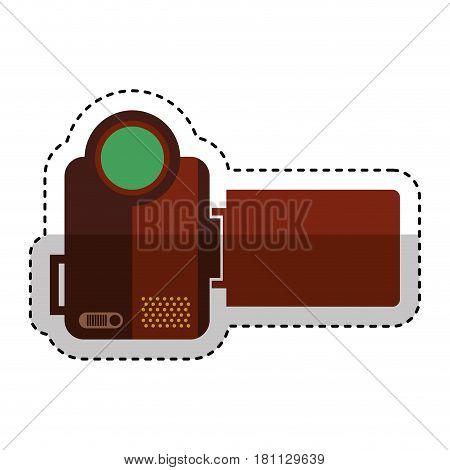 video handycam isolated icon vector illustration design