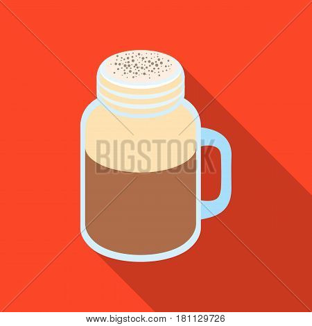 milk shake.Different types of coffee single icon in flat style vector symbol stock illustration .
