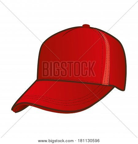 silhouette color with baseball cap vector illustration