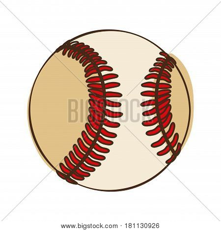 silhouette color with baseball ball vector illustration