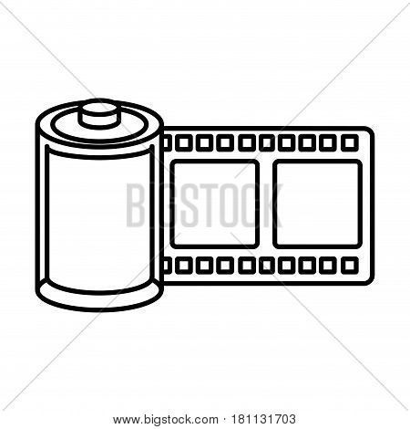 roll tape record isolted icon vector illustration design