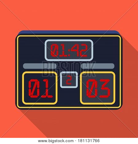 Board with a score of football.Fans single icon in flat  vector symbol stock illustration.