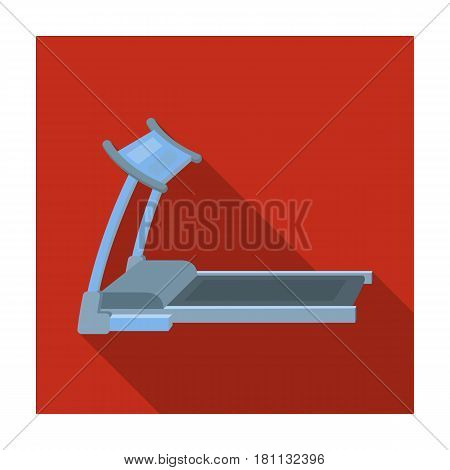 Treadmill. Running simulator for training in the gym.Gym And Workout single icon in flat style vector symbol stock web illustration.