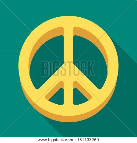 The icon of the world.Hippy single icon in flat style vector symbol stock illustration .