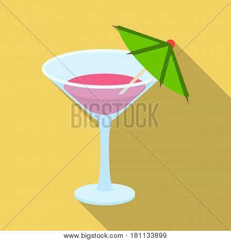 Glass with a cocktail.Party and parties single icon in flat style vector symbol stock web illustration.