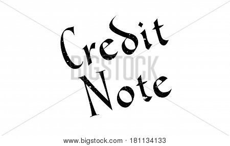 Credit Note rubber stamp. Grunge design with dust scratches. Effects can be easily removed for a clean, crisp look. Color is easily changed.