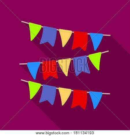 Festive colorful ribbons.Party and parties single icon in flat style vector symbol stock web illustration.