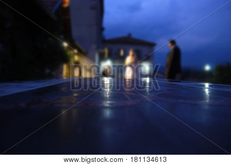 special effects on a image of wedding
