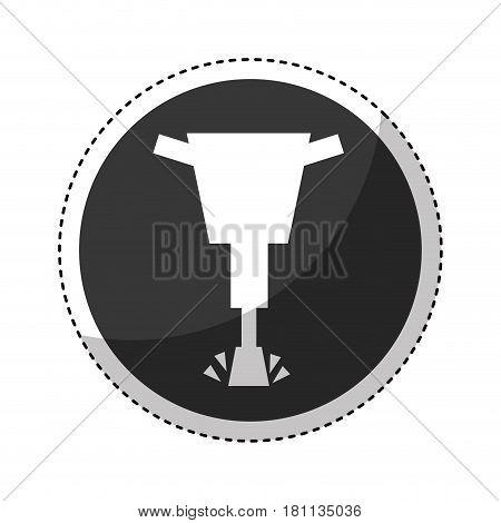 hydraulic hammer isolated icon vector illustration design