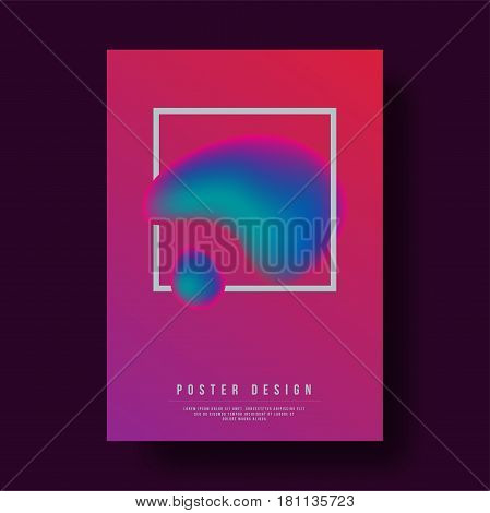 Abstract Colorful Gradient Fluid Cover Design - Vector illustration template