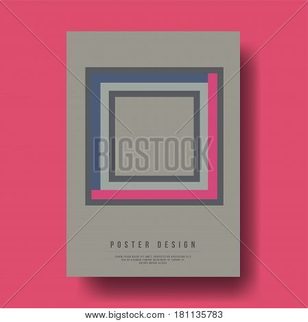 Abstract Geometric Squares Cover Design - Vector illustration template
