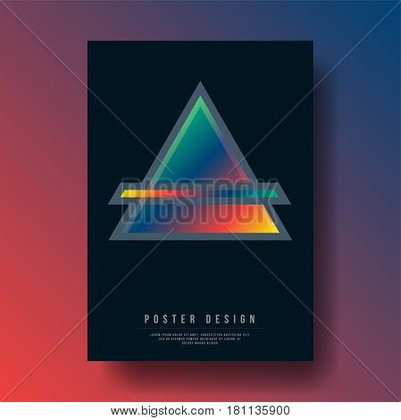 Abstract Geometric Triangle Shapes Cover Design - Vector illustration template