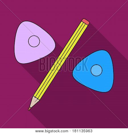 Pencil and sewing wash.Sewing or tailoring tools kit single icon in flat style vector symbol stock web illustration.